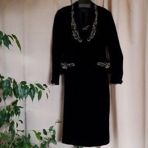 Dresses & Skirts - Custom Tailored Beaded Sheath Dress & Jacket Set